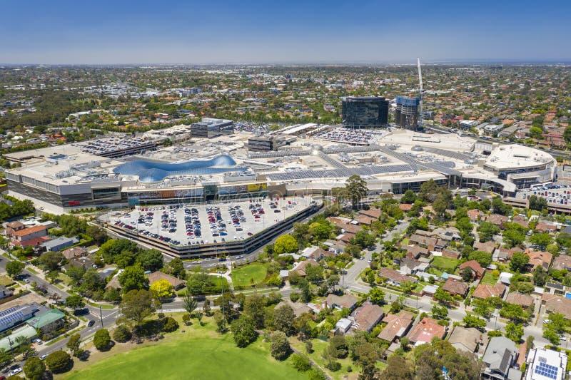 Εναέρια άποψη του εμπορικού κέντρου Chadstone στοκ εικόνες