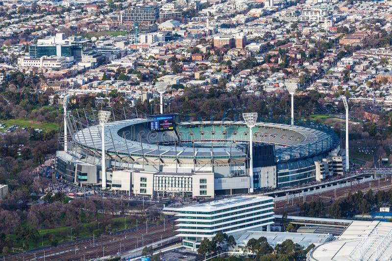 Εναέρια άποψη του εδάφους γρύλων της Μελβούρνης στοκ φωτογραφία