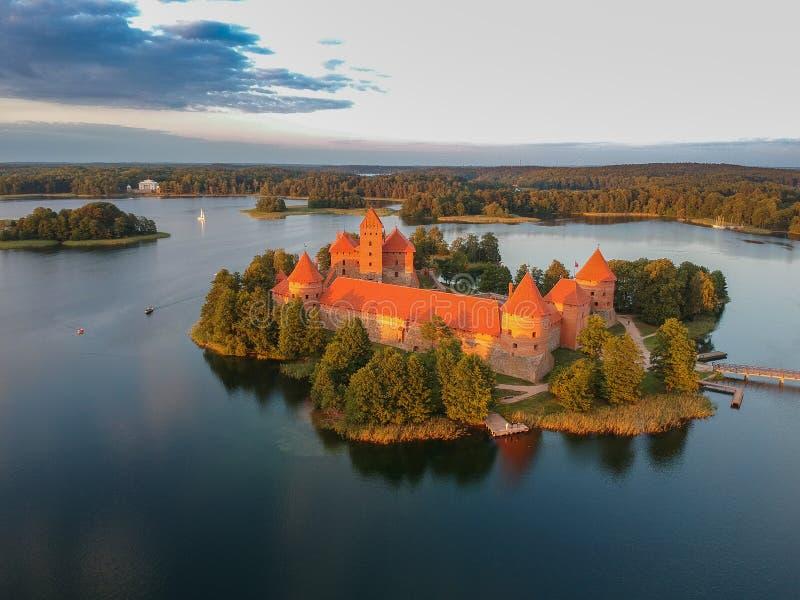 Εναέρια άποψη του κάστρου Τρακάι στοκ φωτογραφίες με δικαίωμα ελεύθερης χρήσης