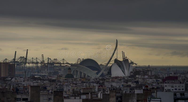 Εναέρια άποψη του κέντρου της Βαλένθια, Ισπανία στοκ φωτογραφία με δικαίωμα ελεύθερης χρήσης