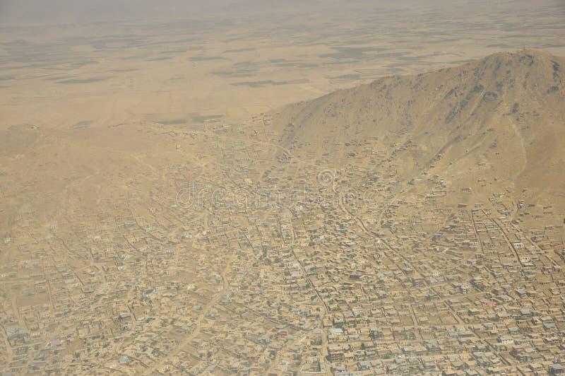 Εναέρια άποψη του Καμπούλ, Αφγανιστάν στοκ φωτογραφία