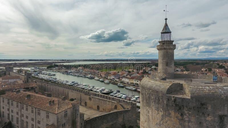 Εναέρια άποψη του καναλιού du Ροδανός ένας πύργος Sete και Constance στοκ φωτογραφία με δικαίωμα ελεύθερης χρήσης