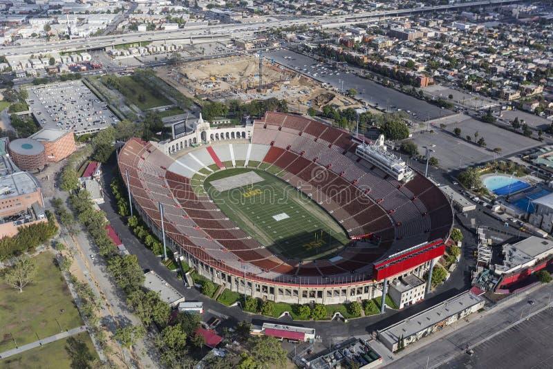 Εναέρια άποψη του Λος Άντζελες Coliseum στοκ φωτογραφίες με δικαίωμα ελεύθερης χρήσης