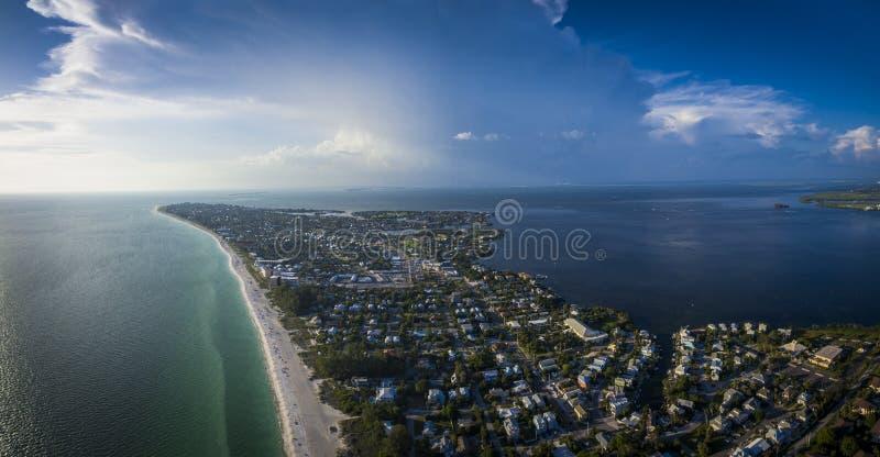Εναέρια άποψη του νησιού της Anna Μαρία στοκ φωτογραφίες με δικαίωμα ελεύθερης χρήσης