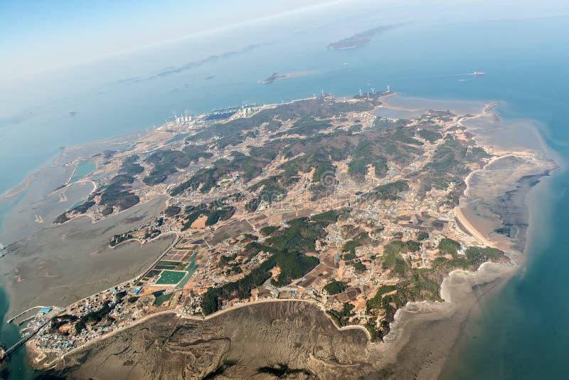Εναέρια άποψη του νησιού Yeongheung στοκ εικόνες