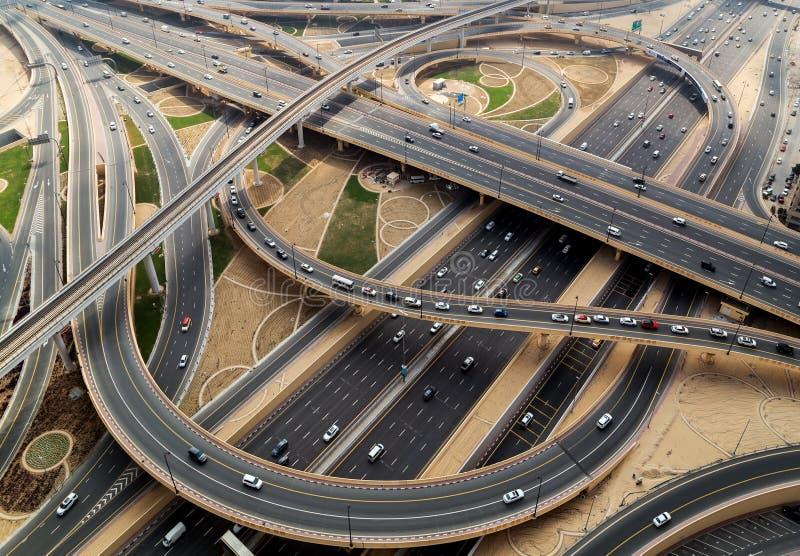 Εναέρια άποψη του Ντουμπάι της εθνικής οδού στοκ εικόνες με δικαίωμα ελεύθερης χρήσης