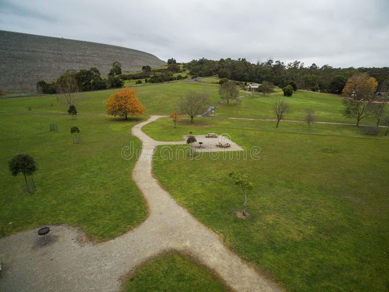 Εναέρια άποψη του πάρκου δεξαμενών Cardinia, Μελβούρνη, Αυστραλία στοκ εικόνα