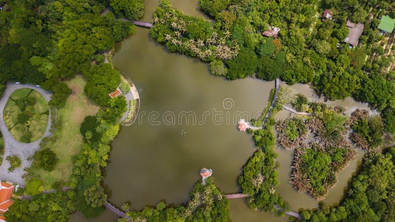Εναέρια άποψη του πάρκου και του βοτανικού κήπου Sri Nakhon Khuean Khan στοκ εικόνα