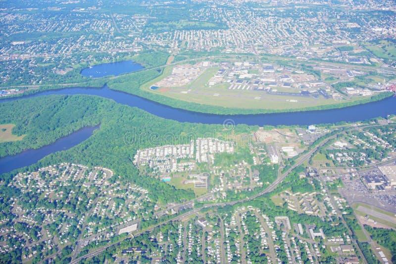 Εναέρια άποψη του ποταμού του Κοννέκτικατ στοκ φωτογραφία με δικαίωμα ελεύθερης χρήσης