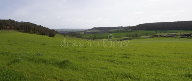 Εναέρια άποψη του τοπίου εκστρατείας στη γαλλική επαρχία, Gironde στοκ φωτογραφίες με δικαίωμα ελεύθερης χρήσης