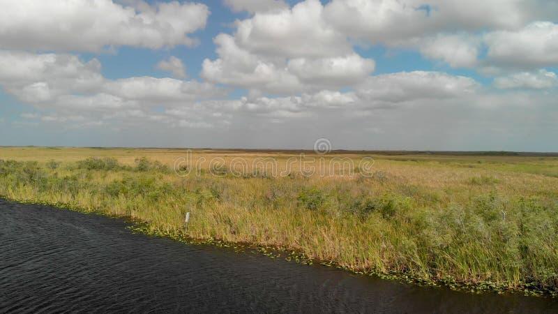 Εναέρια άποψη του τοπίου Everglades, Φλώριδα στοκ φωτογραφίες