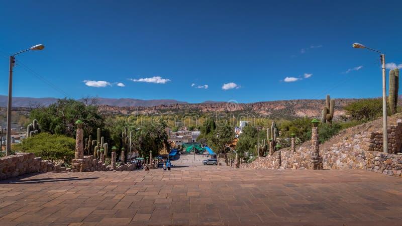 Εναέρια άποψη του χωριού Humahuaca - Humahuaca, Jujuy, Αργεντινή στοκ φωτογραφία