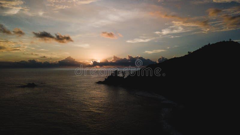 Εναέρια άποψη του όμορφου νησιού στις Σεϋχέλλες στον Ινδικό Ωκεανό στοκ φωτογραφίες με δικαίωμα ελεύθερης χρήσης