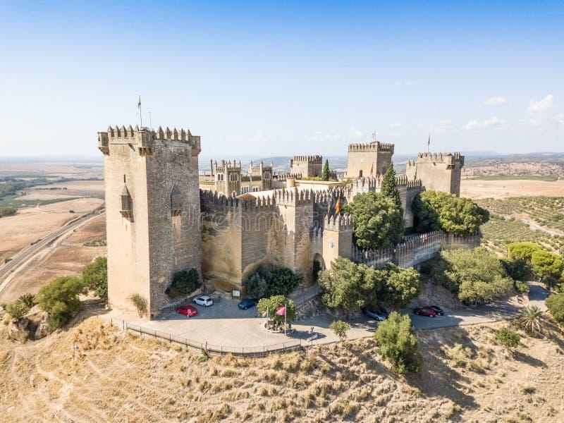 Εναέρια άποψη του Castle Almodovar del Ρίο, Ανδαλουσία, Ισπανία στοκ φωτογραφία