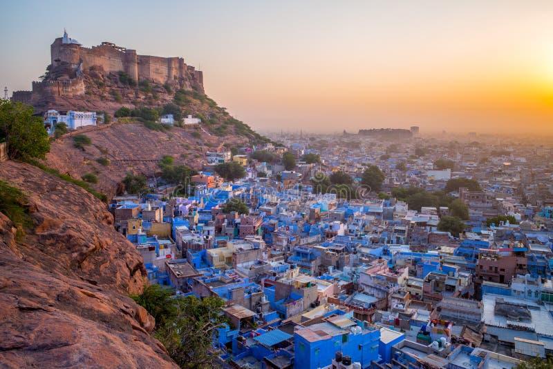 Εναέρια άποψη του Jodhpur στο σούρουπο στοκ φωτογραφία με δικαίωμα ελεύθερης χρήσης