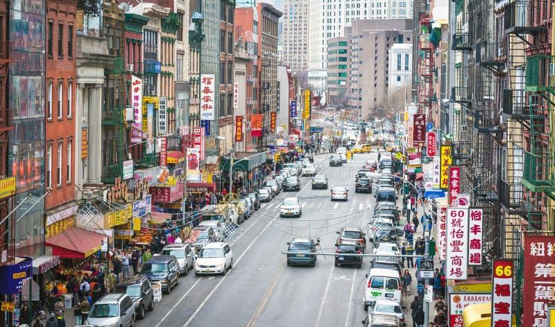 Εναέρια άποψη Chinatown στην πόλη της Νέας Υόρκης στοκ εικόνα