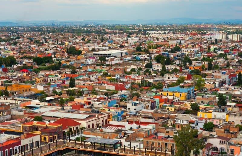 Εναέρια άποψη Cholula στο Πουέμπλα, Μεξικό στοκ εικόνα με δικαίωμα ελεύθερης χρήσης