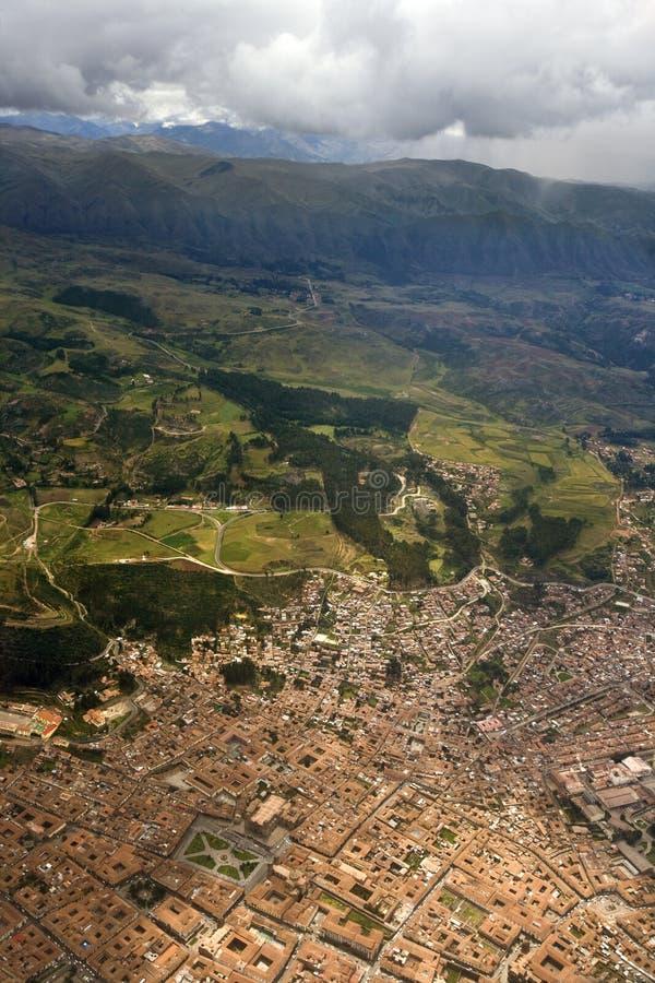 Εναέρια άποψη - Cuzco - Περού στοκ φωτογραφία