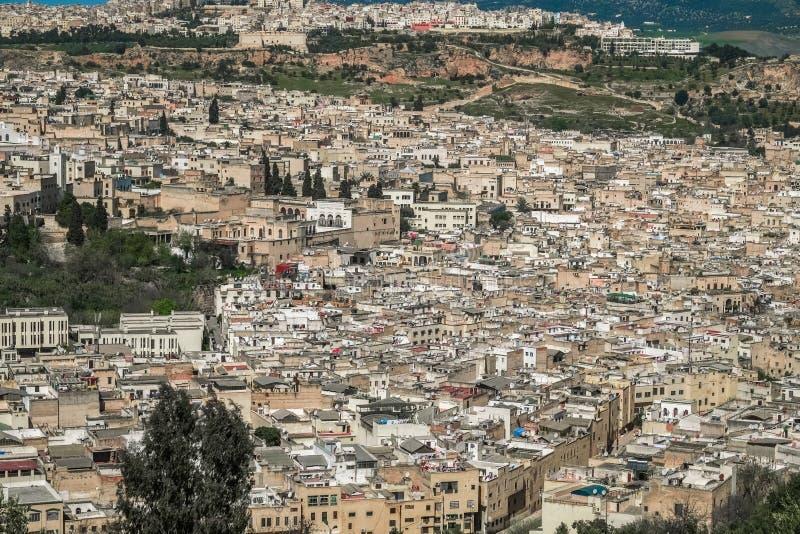 Εναέρια άποψη Fes EL Μπαλί, Μαρόκο στοκ εικόνα με δικαίωμα ελεύθερης χρήσης