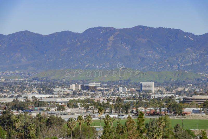 Εναέρια άποψη Loma Linda της εικονικής παράστασης πόλης στοκ εικόνες