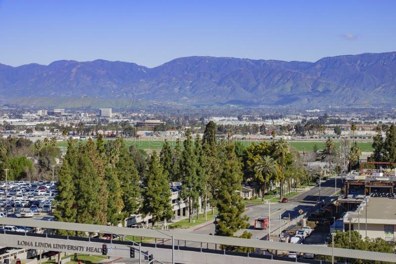 Εναέρια άποψη Loma Linda της εικονικής παράστασης πόλης στοκ φωτογραφία με δικαίωμα ελεύθερης χρήσης