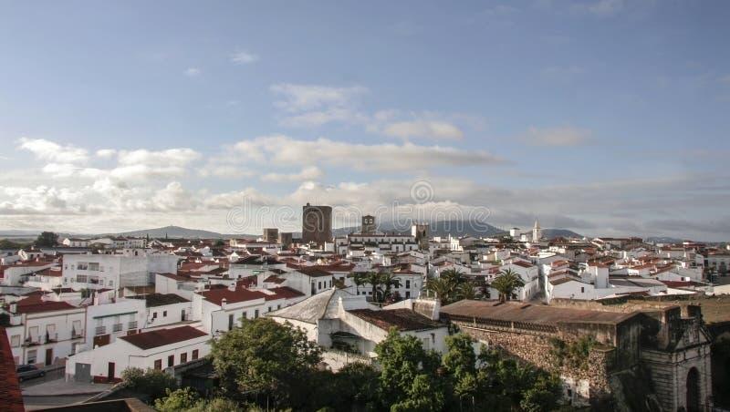 Εναέρια άποψη Olivenza της πόλης, Ισπανία στοκ φωτογραφίες