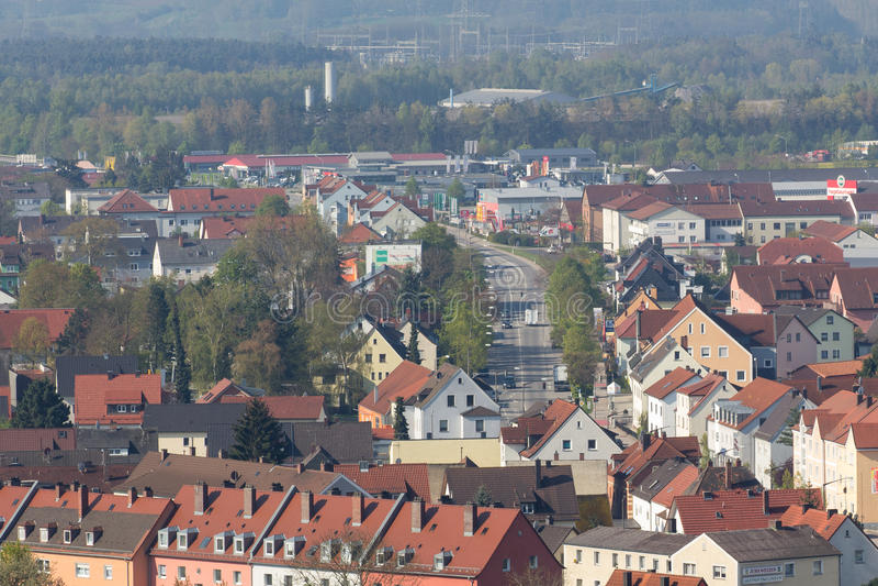 Εναέρια άποψη Schwandorf στοκ φωτογραφία