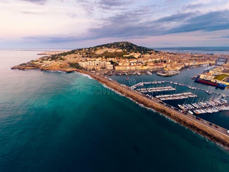 Εναέρια άποψη Sete, Γαλλία στοκ εικόνες με δικαίωμα ελεύθερης χρήσης