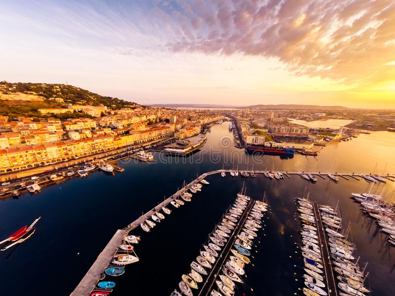 Εναέρια άποψη Sete, Γαλλία στοκ εικόνα