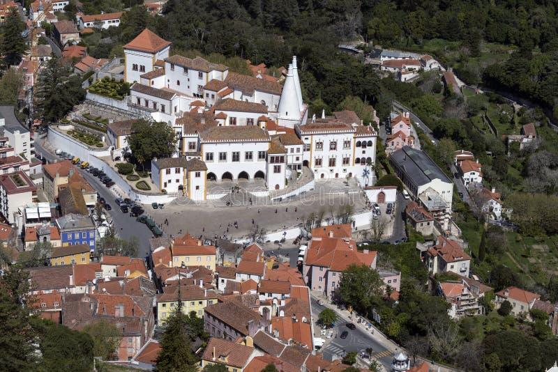 Εναέρια άποψη Sintra - της Λισσαβώνας - της Πορτογαλίας στοκ εικόνες με δικαίωμα ελεύθερης χρήσης