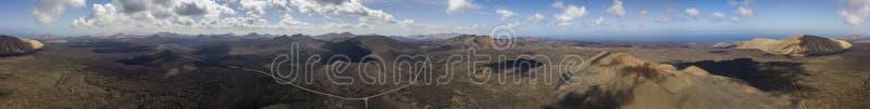 Εναέρια άποψη Timanfaya, εθνικό πάρκο, Caldera BLANCA, πανοραμική άποψη των ηφαιστείων Lanzarote, Κανάρια νησιά, Ισπανία στοκ φωτογραφίες με δικαίωμα ελεύθερης χρήσης