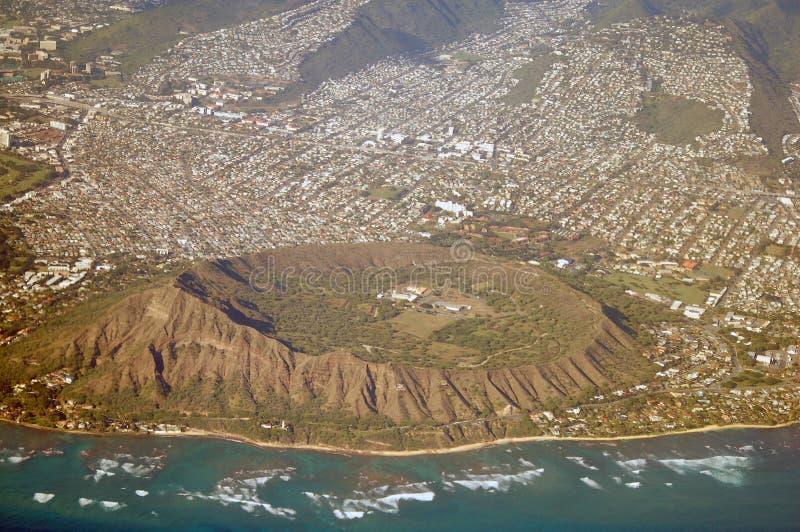 εναέρια επικεφαλής όψη της Χαβάης διαμαντιών στοκ εικόνες