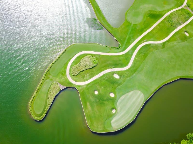 Εναέρια λέσχη Ώστιν, Τέξας, ΗΠΑ νομών γηπέδων του γκολφ στοκ εικόνες