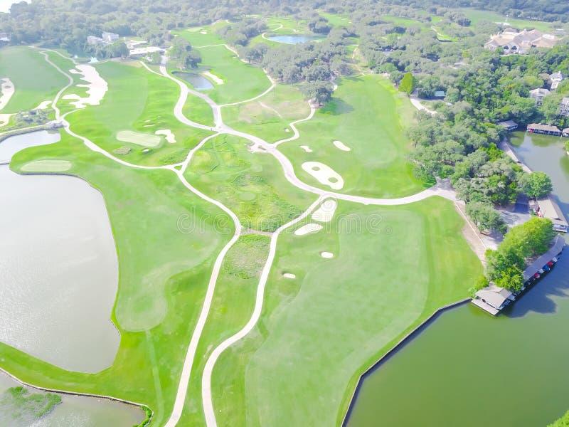 Εναέρια λέσχη Ώστιν, Τέξας, ΗΠΑ νομών γηπέδων του γκολφ στοκ φωτογραφίες με δικαίωμα ελεύθερης χρήσης