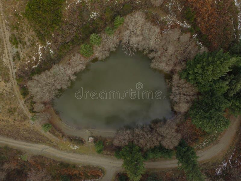 Εναέρια λίμνη άποψης montseny στοκ εικόνες με δικαίωμα ελεύθερης χρήσης