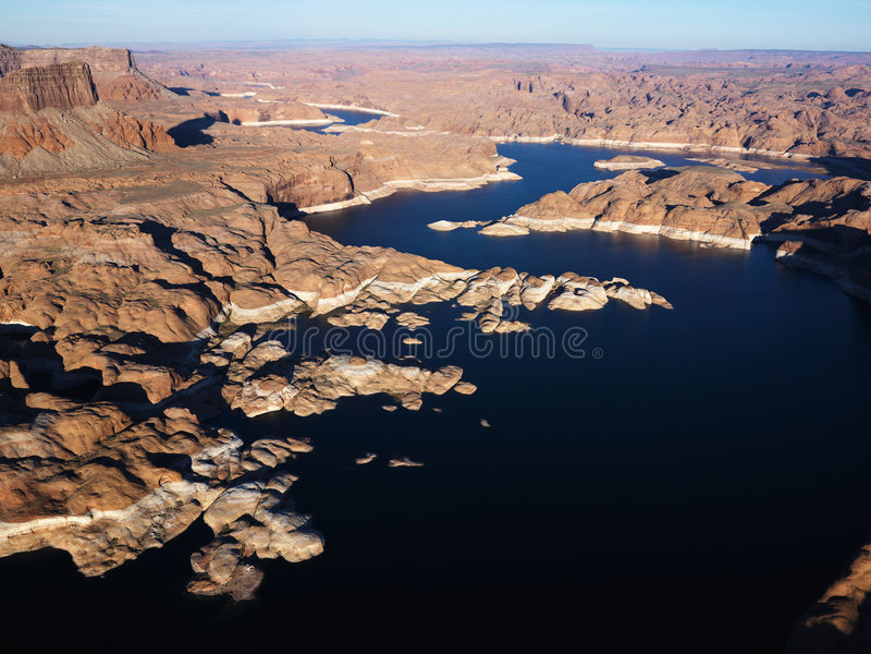 εναέρια λίμνη powell στοκ φωτογραφίες με δικαίωμα ελεύθερης χρήσης
