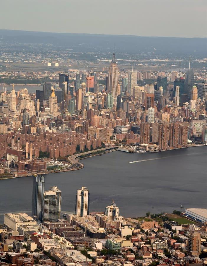 εναέρια νέα όψη Υόρκη πόλεων στοκ εικόνες