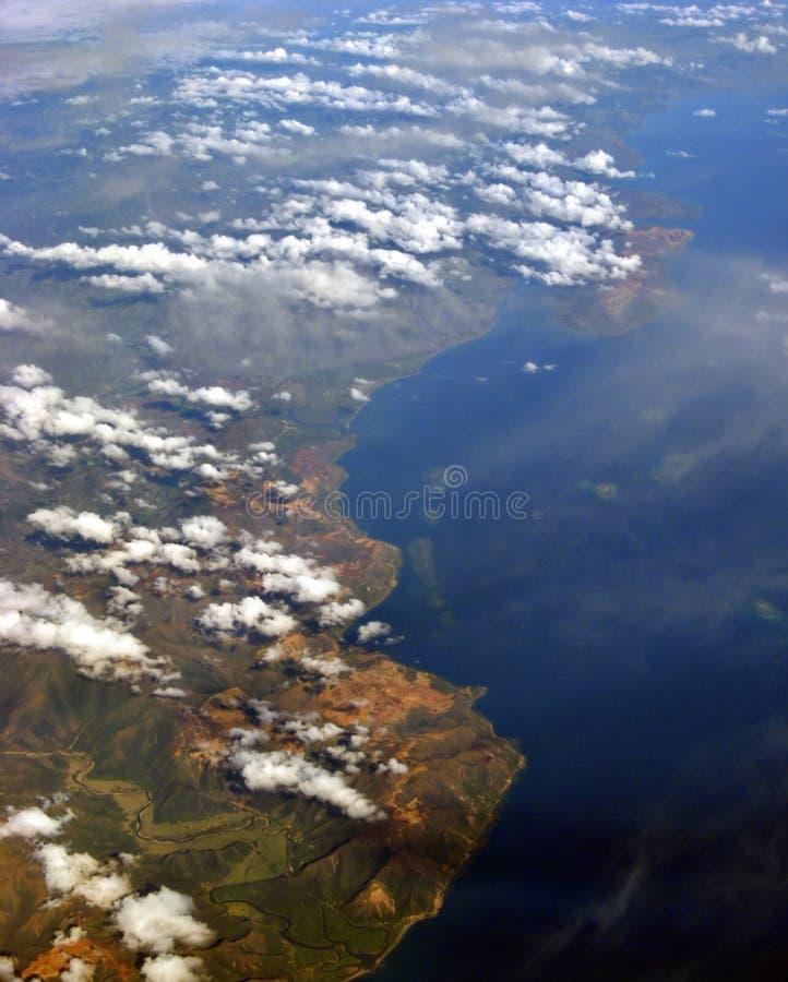εναέρια νότια όψη θάλασσας & στοκ εικόνες