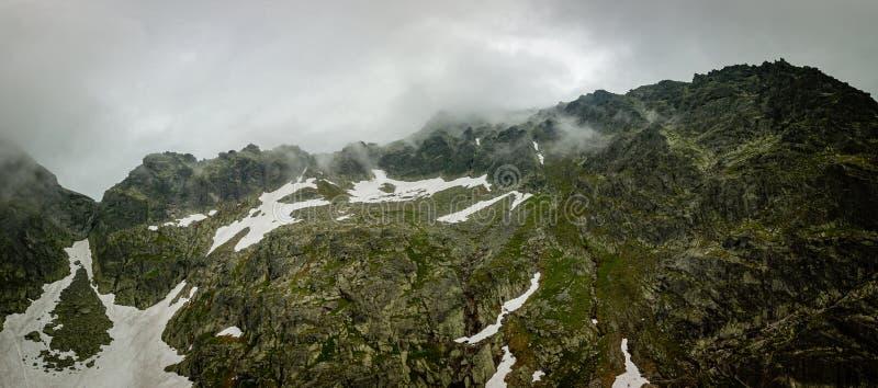 Εναέρια πανοραμική άποψη υψηλού Tatras, Σλοβακία στοκ εικόνες