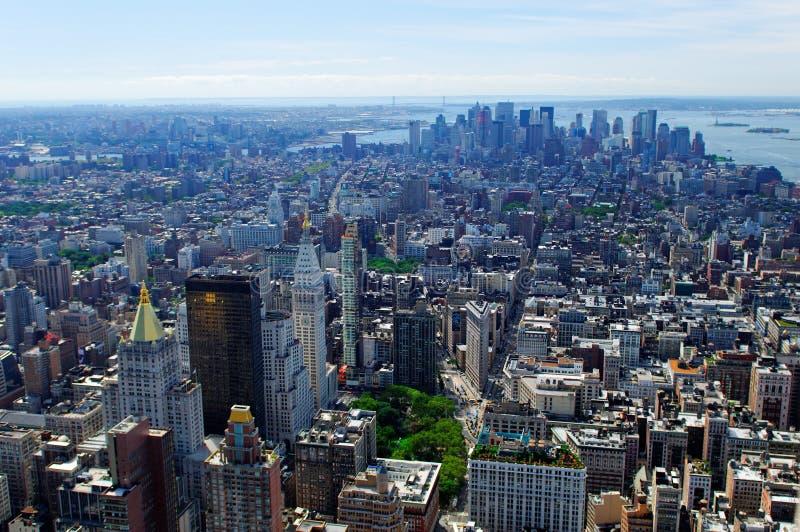 εναέρια πόλη Νέα Υόρκη στοκ φωτογραφία με δικαίωμα ελεύθερης χρήσης