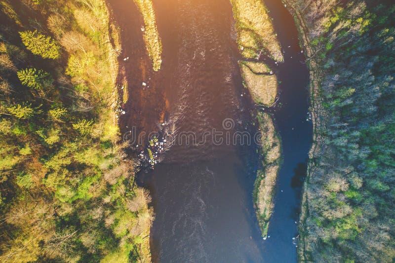 Εναέρια τοπ άποψη ποταμών στοκ εικόνες με δικαίωμα ελεύθερης χρήσης