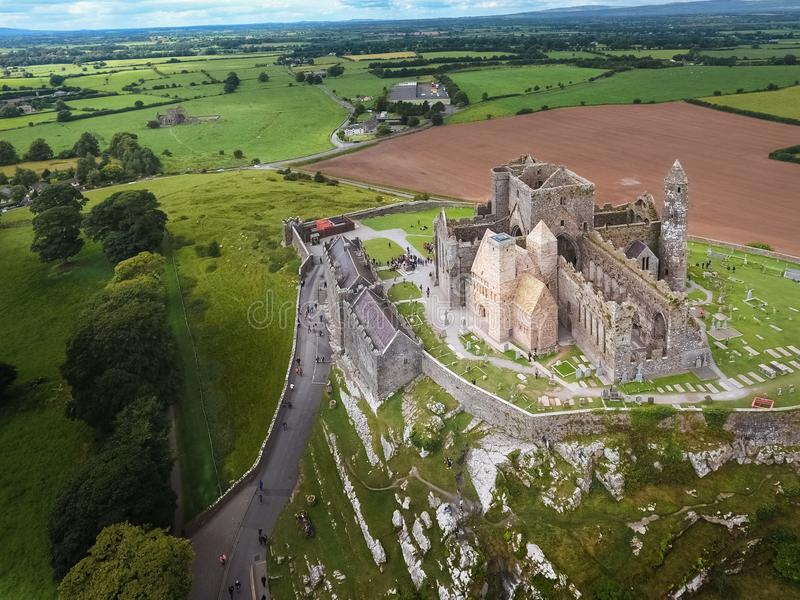εναέρια όψη Βράχος Cashel Κομητεία Tipperary Ιρλανδία στοκ εικόνες