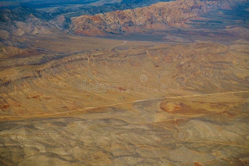 εναέρια όψη ερήμων στοκ φωτογραφίες