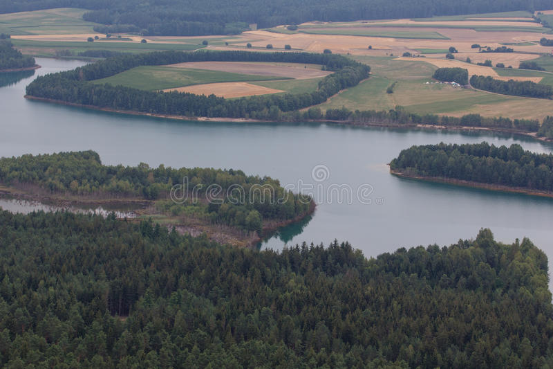 εναέρια όψη λιμνών στοκ εικόνες