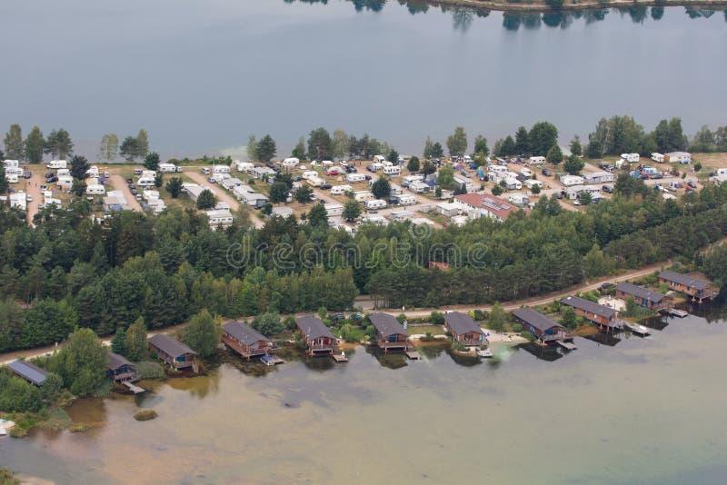 εναέρια όψη λιμνών στοκ φωτογραφίες
