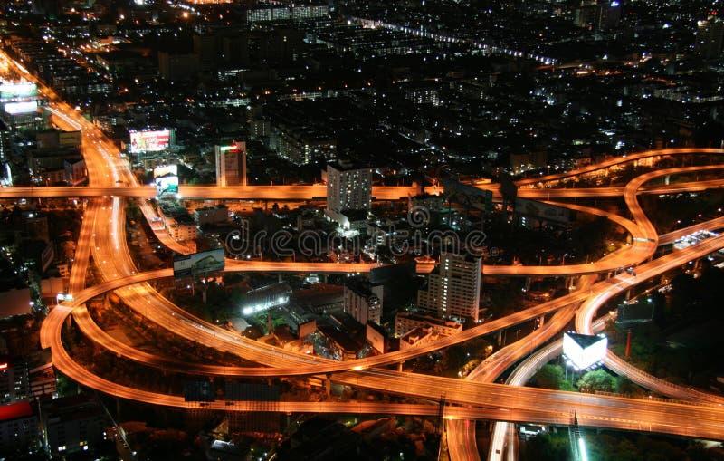 εναέρια όψη νύχτας διατομής στοκ φωτογραφία με δικαίωμα ελεύθερης χρήσης