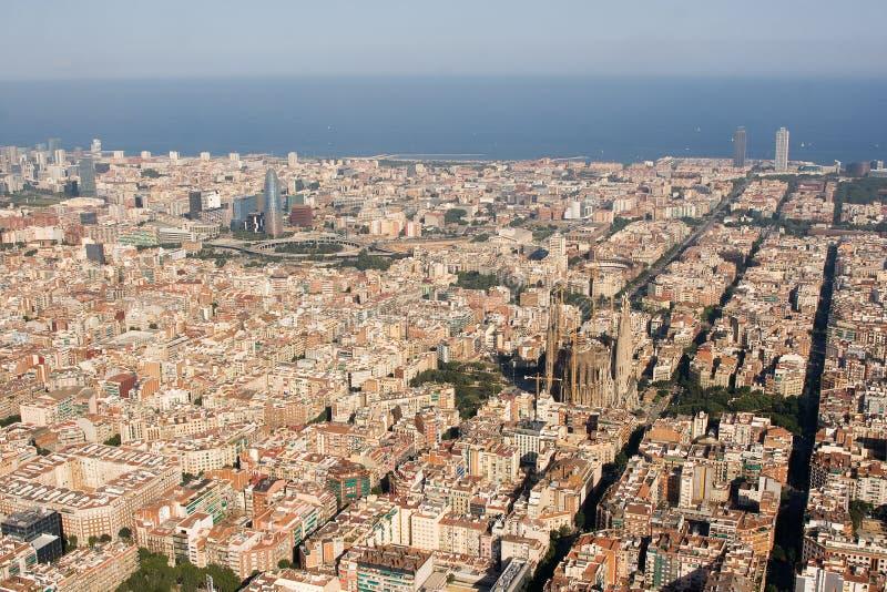 εναέρια όψη της Βαρκελώνη&sigmaf στοκ εικόνα με δικαίωμα ελεύθερης χρήσης