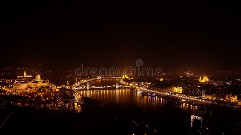 εναέρια όψη της Βουδαπέστης στοκ εικόνα με δικαίωμα ελεύθερης χρήσης