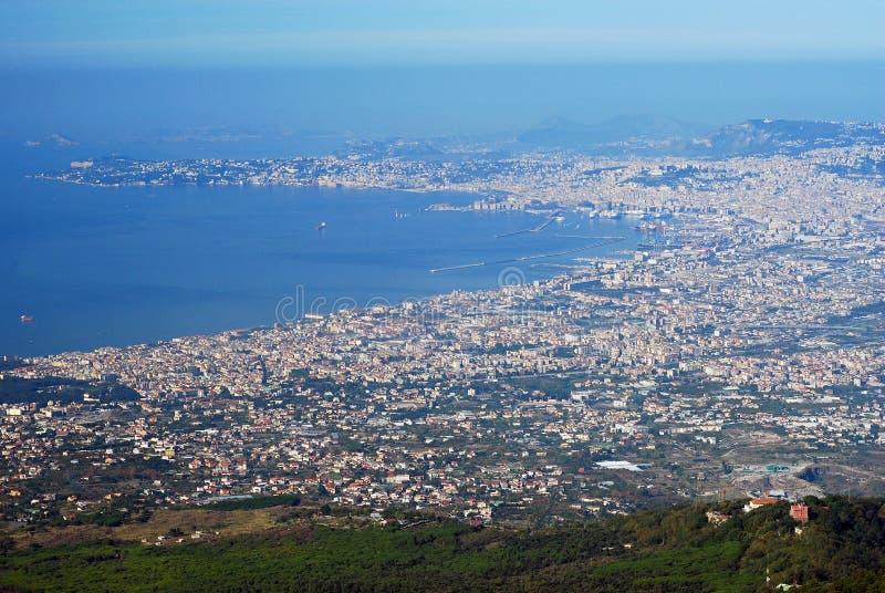 εναέρια όψη της Νάπολης πόλ&epsil στοκ φωτογραφίες