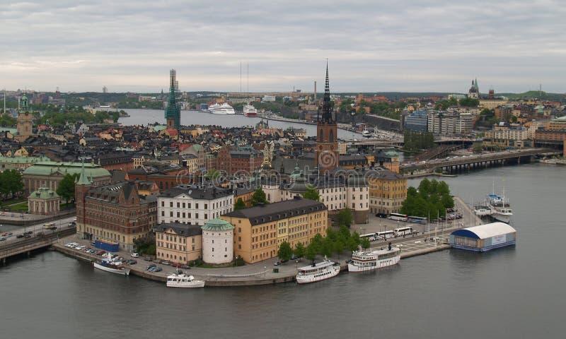 εναέρια όψη της Στοκχόλμης στοκ φωτογραφία